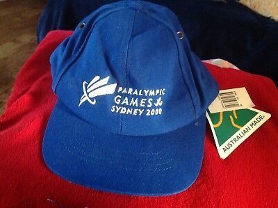 Olympic Games Collectable - Sydney - 2000 - Paralympic Games Cap New With Tags.
