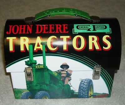 New Old Stock-2011-Tin-John Deere Carryall-Lunchbox-Toy Carrier-New (K)