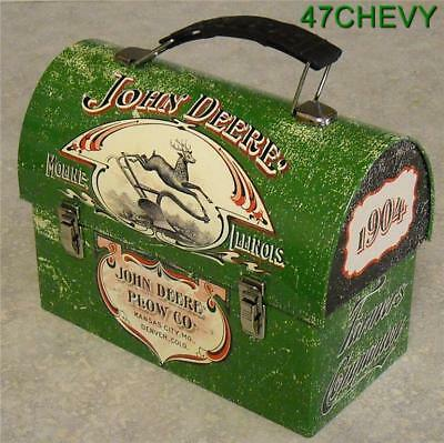 New Old Stock-2011-Tin-John Deere Carryall-Lunchbox-Toy Carrier-New-(H)