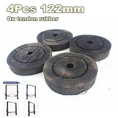 Set OF 4 Round Rubber Arm Pads For Alm Lift Fits 2 Post Lifts Slip on Style