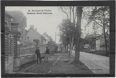 Cp 90  Juziers /  Route Nationale