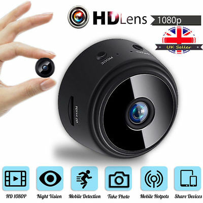 Mini Spy 1080P IP Camera Wireless WiFi HD Hidden Home Security Night Vision UK