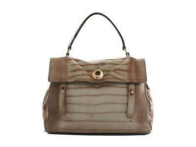 1dc681219bf Authentic Yves Saint Laurent Muse II Crocodile Pattern Brown Leather Bag