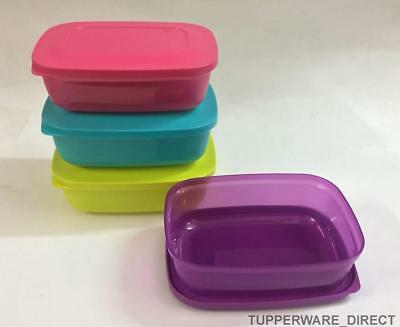 Tupperware Snack n Stack - Rectangular Lunch Boxes - Set of 4 - Free Shipping