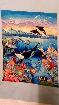 Finished Large Cross Stitch Sea World