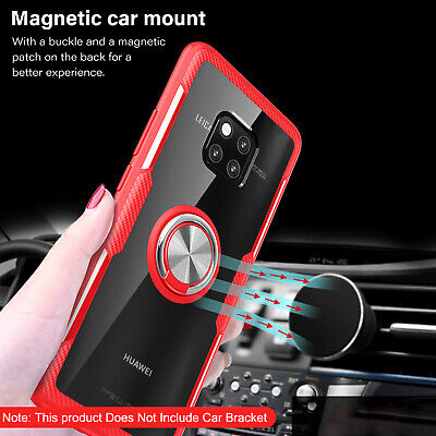 For Huawei Mate 20 Pro Honor 8X Case Magnetic Hybrid Stand Tempered Glass Cover