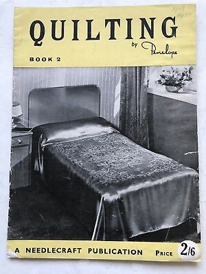 Quilting By Penelope Vintage Retro Needlework Printed Salford Manchester