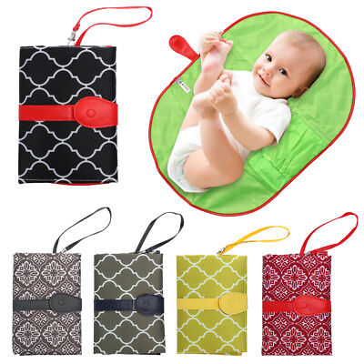 Fancy Baby Diaper Changing Mat Stroller Products Clutch Bag Infants Nappy Pad