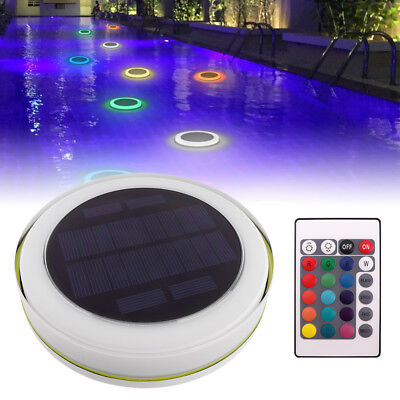 RGB 24 LED Flood Solar Power Pond Light Swimming Pool Waterproof Remote Control