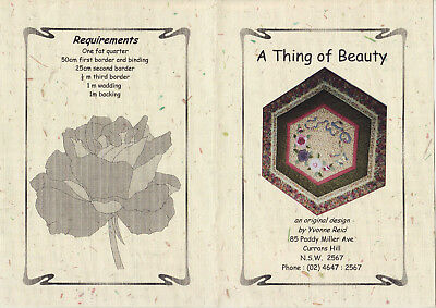 PATCHWORK/QUILTING/APPLIQUE  QUILT -  'Thing of Beauty'