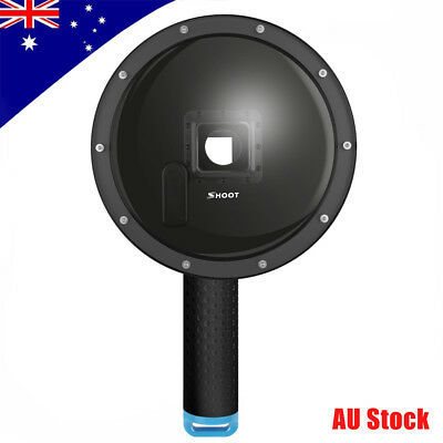 SHOOT6'' Dome Port Lens Waterproof Housing Diving Case Cover for GoPro Hero 3+/4