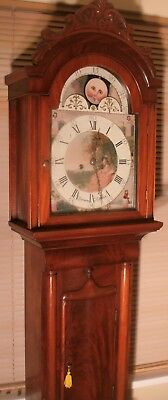 "Antique Mahogany Moon Phase  "" Halifax ""  Longcase / Grandfather Clock"