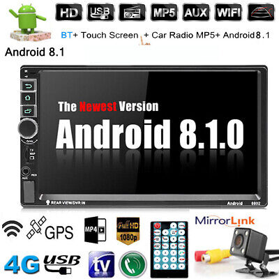 Android 8.1 AUTORADIO mit Navigation NAVI BLUETOOTH WIFI GPS 2 DOPPEL DIN MP3 7""