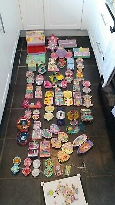 Vintage Polly Pocket Massive Bundle Biggest On Ebay 49 Sets And Dolls Don't Miss