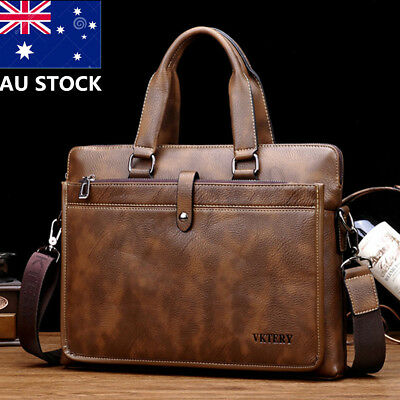 Vintage Men PU Leather Business Laptop Handbag Corssbody Crossbody Shoulder Bag