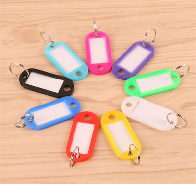 20pcs Key Ring Tags Plastic Assorted Color Plastic ID Card Identity Tags Label R