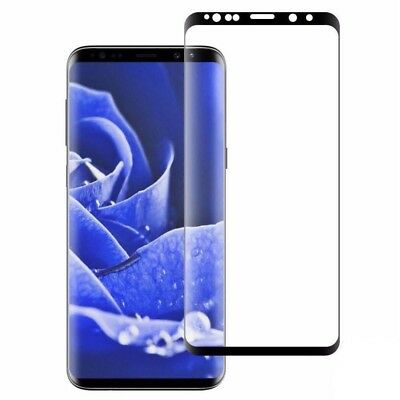 100% Genuine Tempered Glass Screen Protector For Samsung Galaxy S9 Plus Black .