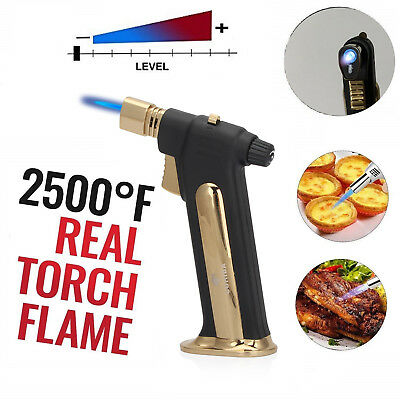 Blow Cooking Butane Torch Lighter Kitchen Refillable Culinary burner gas