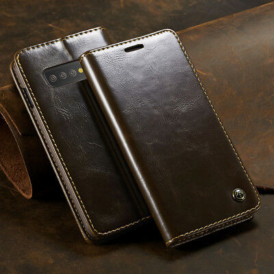 For Samsung Galaxy S10 Plus Lite Magnetic Flip Leather Card Cover Wallet Case