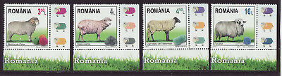 Romania 2017 MNH - Breeds of Sheep from Romania - set of 4 stamps