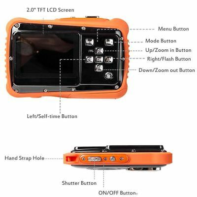 Orange wasserdichte HD720p 12MP LCD-kompakte Digitalkamera für die Kinderkinder