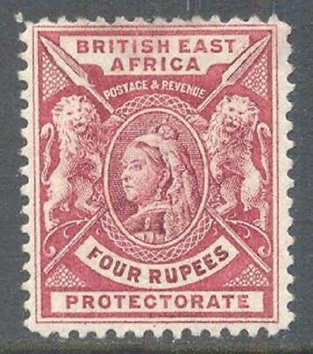 BRITISH EAST AFRICA 1896 QV 4r Carmine-Lake Mint