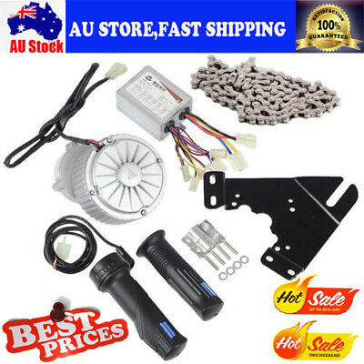 450W 24V Electric Bicycle Brush Motor Conversion Kit w/ Control & Thumb Throttle