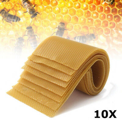 10x Honeycomb Wax Frames Beekeeping Foundation Honey Hive Equipment Home Durable