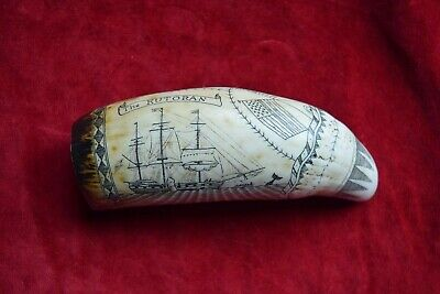 """The Kutoran""   faux-scrimshaw... superb. engraved by john Adams. SRP £24 ++++"