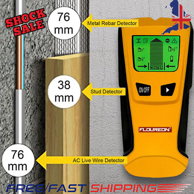 FLOUREON LCD Multi Detector Stud Center Finder Metal AC Live Wire Cable Scanner