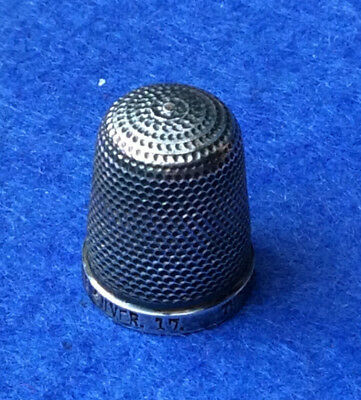 Henry Griffith & Sons, Leamington Spa, sterling silver thimble, size 17
