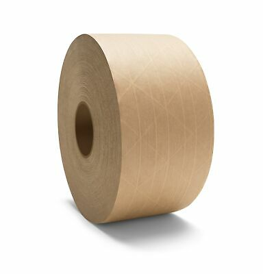"""80 Rls 3"""" x 450' Tan/Brown Gummed Tape Reinforced Economy Grade Water Activated"""