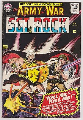 Our Army at War #163 Featuring Viking Prince & Sgt. Rock, Fine - VF Condition