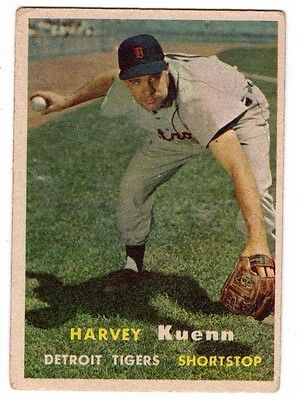 1957 Topps #88 Harvey Kuenn - Detroit Tigers, Very Good - Excellent Condition