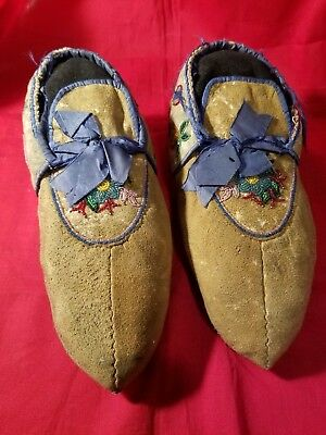 Authentic Great Lakes Beaded Moccasins. 1880-1890's  MAKE AN OFFER!!