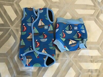 Splash About Baby Wrap Wetsuit 0-6 months Small - AND Medium Happy Swim Nappy
