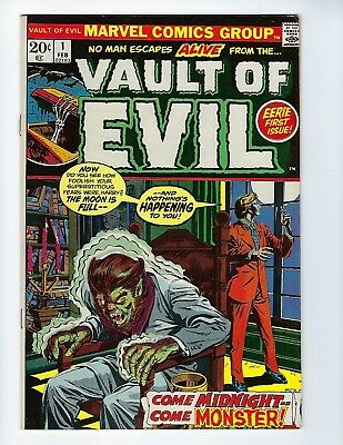 VAULT OF EVIL # 1 (Cents Issue, GIL KANE & TOM PALMER Cover, Feb 1973), VF+