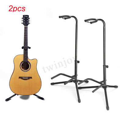 2PCS Telescopic Guitar Stand Holder Acoustic Electric Adjustable Folding Tripod