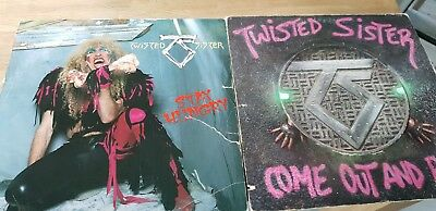 2 Twisted Sister LP´s ComeOut and Play (1985) & Stay Hungry(1984)