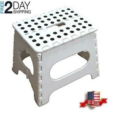 Sensational One Step Folding Collapsible Foot Stool Kids Kitchen Bath Caraccident5 Cool Chair Designs And Ideas Caraccident5Info