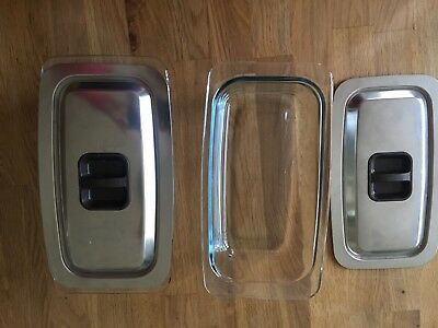 2 Original Hostess Trolley Dishes for Philips, Ekco Royal