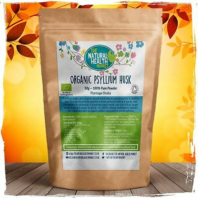 Organic Psyllium Husk Powder 100% PURE Fine Milled Easy To Blend Soluble Fibre