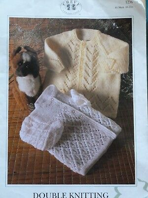 "Baby's Jackets DK Knitting Pattern 16"" - 22"" chest Birth to 1-2yrs"