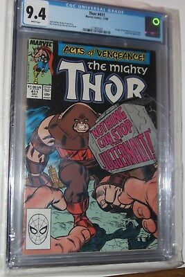 Thor #411 CGC 9.4 - 1st New Warriors, WHITE Pages!  + The Juggernaut