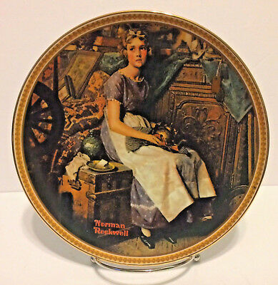Norman Rockwell Dreaming in the Attic Limited Edition Knowles Porcelain Plate