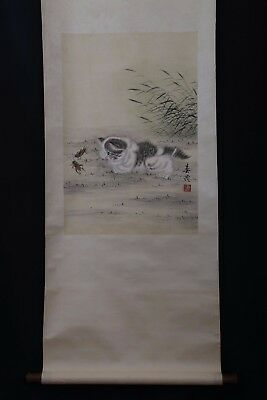 Very Long Great Chinese Workmanship Old Scroll Hand Painting Collectible PP940