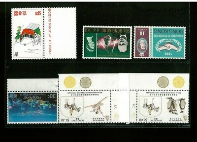 ( HKPNC ) HONG KONG 1960s-80s INVERTED WATERMARK LOT ALL FRESH UMVF