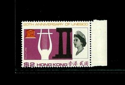 ( Hkpnc ) Hong Kong 1966 Unesco Top Value $2 With Violet Shift Down Vf Um Rare