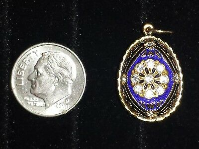 Antique RUSSIAN Faberge-Type STERLING SILVER, Rock Crystal & Enameled Egg