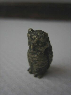 tiny austrian cold painted bronze figurine owl mr Brown beatrix potter